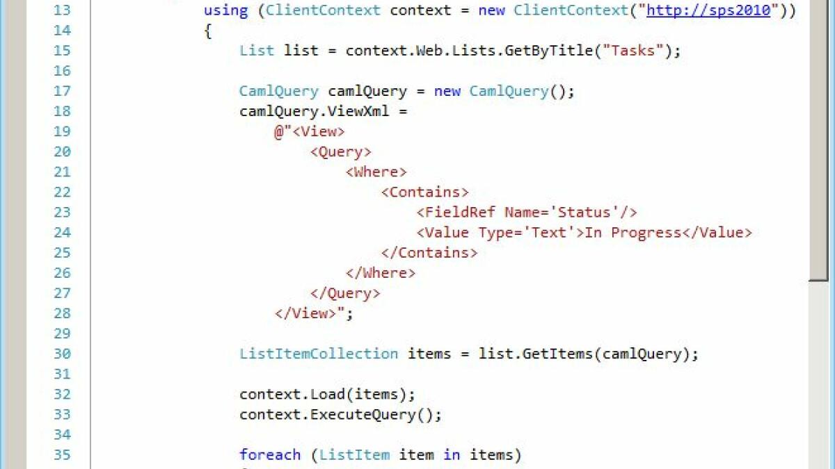 das Client Object Model - computerworld ch