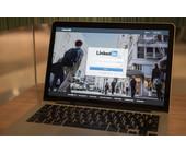 LinkedIn Web-App auf Notebook