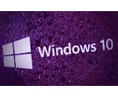 Logo von Windows 10 unter Wassertropfen