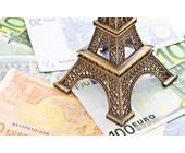 Eiffelturm auf Euro-Banknoten