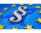 Paragraphen-Symbol in EU-Karte