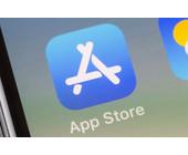 App Store Logo auf iPhone-Bildschirm