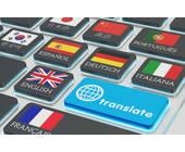 Übersetzer auf der Tastatur