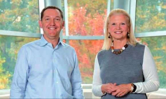 IBM-Chefin Ginni Rometty und Red-Hat-CEO James Whitehurst