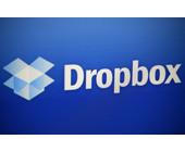 Dropbox-Logo durch die Lupe