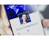 Zuckerberg Facebook-Profil auf Mobilgerät