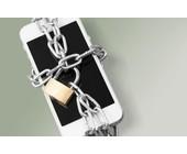 iPhone in Ketten mit Schloss