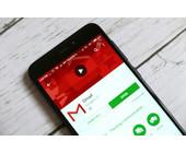 Gmail-App auf Smartphone