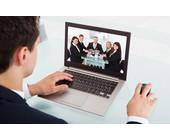Video-Konferenz am Notebook