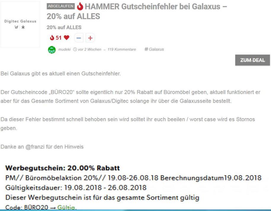 Gutschein-Panne bei Migros-Tochter Digitec/Galaxus - computerworld.ch